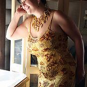Одежда ручной работы. Ярмарка Мастеров - ручная работа Платье крючком По деловому и женственно. Handmade.