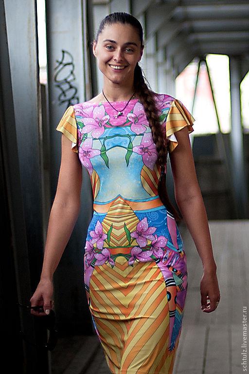 """Платья ручной работы. Ярмарка Мастеров - ручная работа. Купить Платье """"Цветы"""". Handmade. Платье, цветы, радуга"""