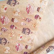 """Бумага ручной работы. Ярмарка Мастеров - ручная работа Крафт-бумага в рулоне """"Сладости"""". Handmade."""