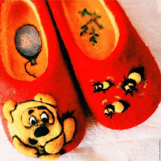 Тапочки валяные купить. Тапочки валяные Немо. Детские тапочки валяные.Ярмарка Мастеров. Ручная работа. Тапочки на заказ. Хэндмэйд.Handmade.Cordero.