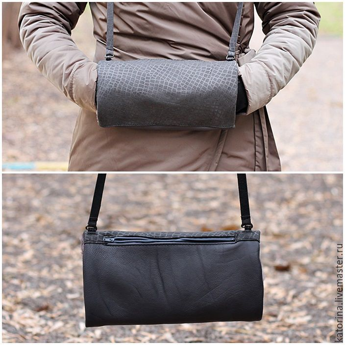 The reverse side has a convenient zipper pocket for phone and documents.