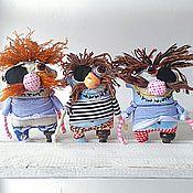 Куклы и игрушки ручной работы. Ярмарка Мастеров - ручная работа Бармалейчики..  текстильная игрушка пират. Handmade.