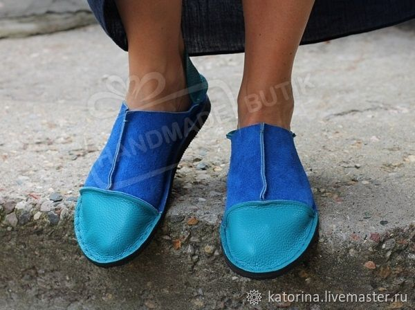 Copy of Copy of Espadrilles made of suede and leather Blue with silver, Espadrilles, Moscow,  Фото №1