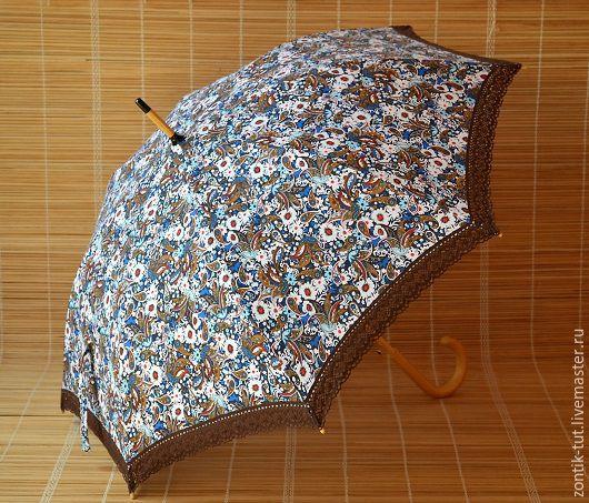"""Зонты ручной работы. Ярмарка Мастеров - ручная работа. Купить Зонт от солнца """"Восточная красавица"""". Handmade. Коричневый, зонтик, от солнца"""