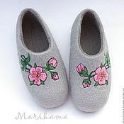 """Обувь ручной работы. Ярмарка Мастеров - ручная работа Тапочки """"Сакура"""". Handmade."""