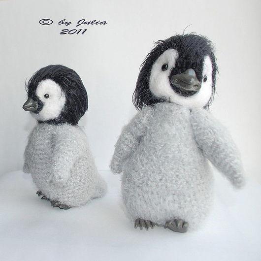 Игрушки животные, ручной работы. Ярмарка Мастеров - ручная работа. Купить Пингвиненок Пин. Handmade. Пингвин, серый, вязаная игрушка