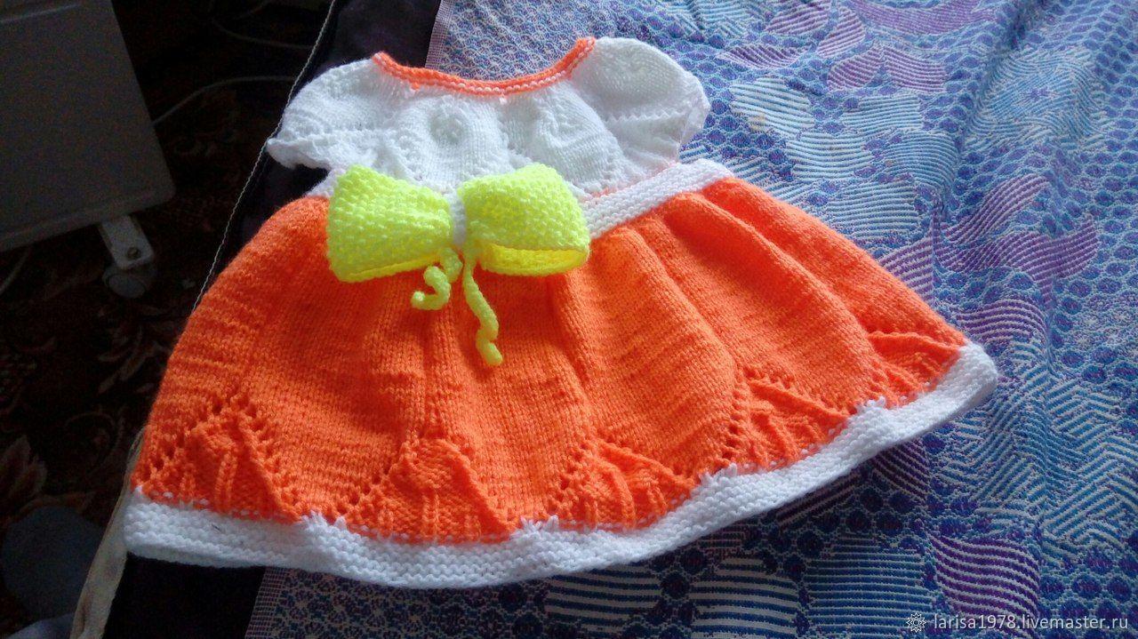 Платье вязаное для девочки Кокетка