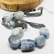 Работы для детей, handmade. Livemaster - original item Sky of the North Beads (beryl aquamarine). Handmade.