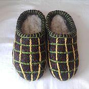 Обувь ручной работы. Ярмарка Мастеров - ручная работа мужские тапки для дачи. Handmade.