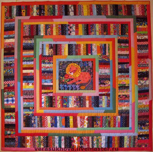 """Текстиль, ковры ручной работы. Ярмарка Мастеров - ручная работа. Купить """"Лев и Роза"""" одеяло 220х220см. Handmade. Лоскутное одеяло"""