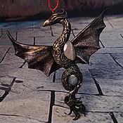 """Украшения ручной работы. Ярмарка Мастеров - ручная работа Дракон кулон """"Колдун темного неба"""". Handmade."""