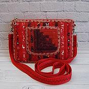 Сумки и аксессуары handmade. Livemaster - original item Small patchwork handbag, for phone, for walks, Russian. Handmade.