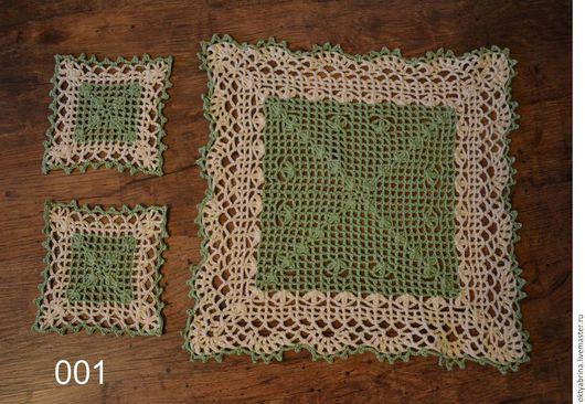 Текстиль, ковры ручной работы. Ярмарка Мастеров - ручная работа. Купить Набор квадратных салфеток. Handmade. Вязание крючком, для кухни