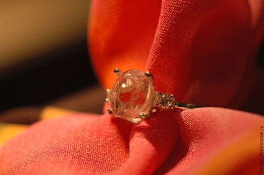 Кольца ручной работы. Ярмарка Мастеров - ручная работа. Купить Кольцо с морганитом ROSE PETAL. Handmade. Бледно-розовый