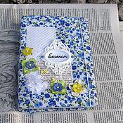 Канцелярские товары ручной работы. Ярмарка Мастеров - ручная работа Блокнот в тканевой обложке. Handmade.