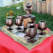 Подарки к праздникам ручной работы. Ярмарка Мастеров - ручная работа набор коньячный. Handmade.