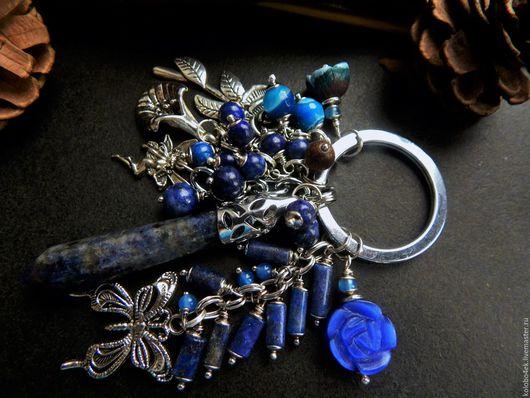 Кулоны, подвески ручной работы. Ярмарка Мастеров - ручная работа. Купить Брелок ТАКАЯ СИНЕВА. Handmade. Синий, необычный брелок