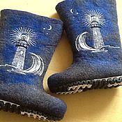 """Обувь ручной работы. Ярмарка Мастеров - ручная работа Валенки для мужчин """"Маяк"""". Handmade."""