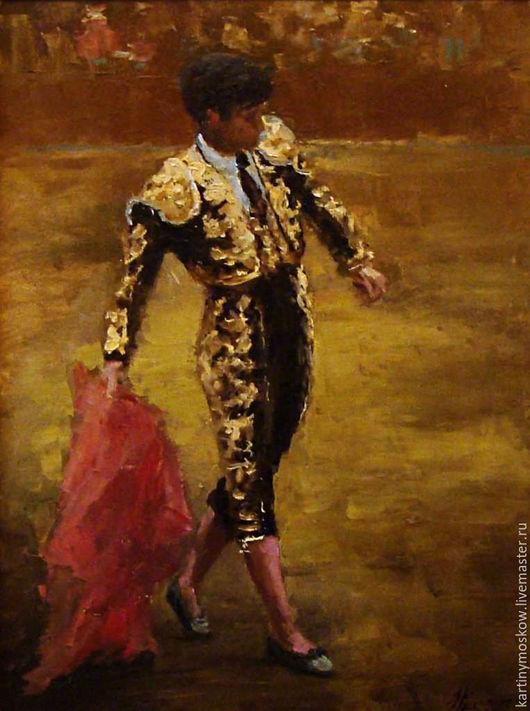 """Люди, ручной работы. Ярмарка Мастеров - ручная работа. Купить Картина маслом """"Испания. Тореадор"""". Handmade. Испания, картина маслом"""