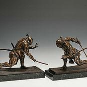 Для дома и интерьера ручной работы. Ярмарка Мастеров - ручная работа Статуэтки Борцы сумо (скульптурная миниатюра из бронзы). Handmade.