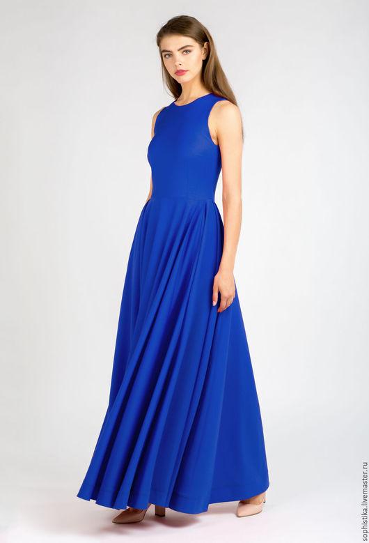 Платья ручной работы. Ярмарка Мастеров - ручная работа. Купить Платье в пол электического цвета. Handmade. Синий, электрик