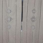 Для дома и интерьера handmade. Livemaster - original item Curtains made of linen with embroidery of Ivanovo line No. №1. Handmade.