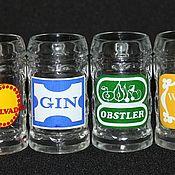 Винтаж handmade. Livemaster - original item Set of six mugs for strong drinks, Czechoslovakia. Handmade.