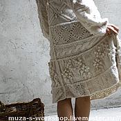 Одежда ручной работы. Ярмарка Мастеров - ручная работа Белое вязаное платье. Handmade.