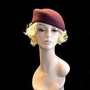 Аксессуары handmade. Livemaster - original item Red wine hat. Handmade.