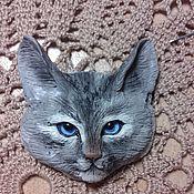 Украшения ручной работы. Ярмарка Мастеров - ручная работа Кошка -брошка 1. Handmade.