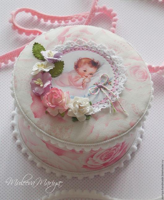 Подарки для новорожденных, ручной работы. Ярмарка Мастеров - ручная работа. Купить Круглая сокровищница. Handmade. Розовый, мамины сокровища