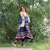 Одежда ручной работы. Ярмарка Мастеров - ручная работа Юбка миди  в стиле бохо. Handmade.
