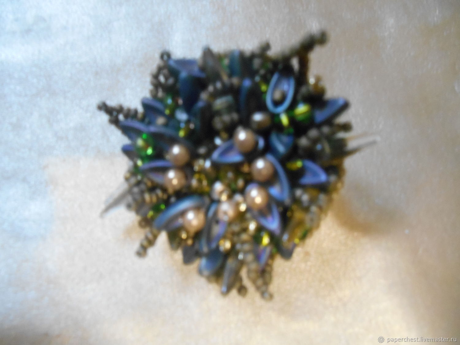 Brooch-pin: Frozen Edelweiss, Brooches, Moscow,  Фото №1