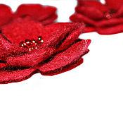 Украшения ручной работы. Ярмарка Мастеров - ручная работа Брошь валяная цветок фиалка красный бордовый малиновый. Handmade.