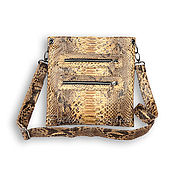 Сумки и аксессуары handmade. Livemaster - original item Zala Python leather handbag. Handmade.