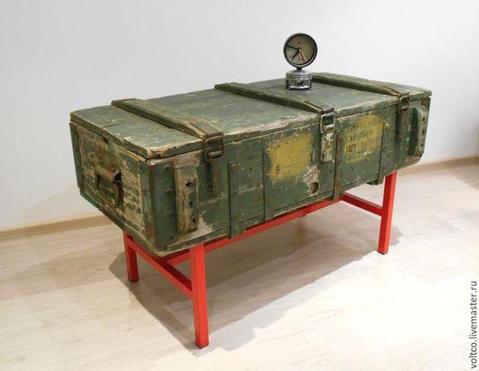 """Мебель ручной работы. Ярмарка Мастеров - ручная работа. Купить """"Прощай, оружие!"""" стол-консоль в стиле лофт.. Handmade. подставка"""