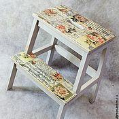 Для дома и интерьера handmade. Livemaster - original item Stepladder stool ivory shabby chik. Handmade.