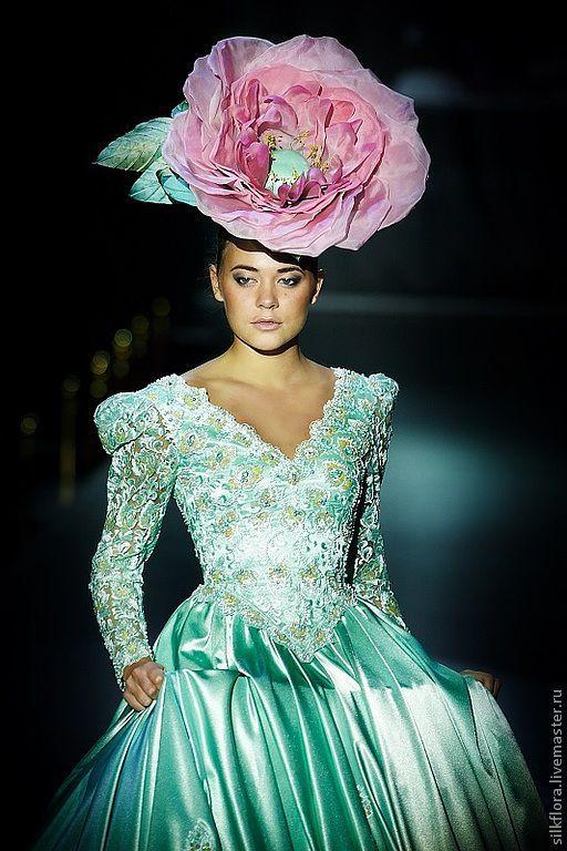 """Шляпы ручной работы. Ярмарка Мастеров - ручная работа. Купить Шляпа-цветок """"Роза"""". Handmade. Розовый, шляпка женская, silkflora"""