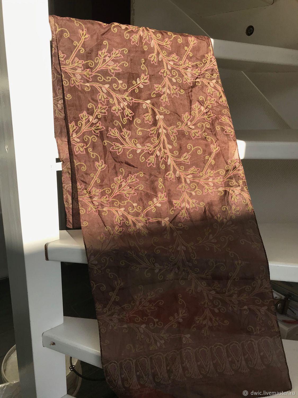 Scarf, stole 'new Delhi', silk, India, Vintage accessories, Arnhem,  Фото №1