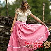 Одежда handmade. Livemaster - original item Skirt made of natural linen