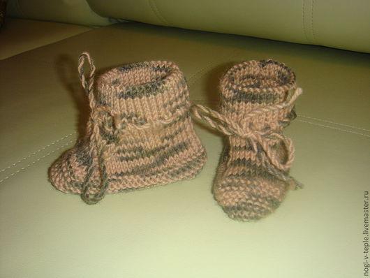 Носки, Чулки ручной работы. Ярмарка Мастеров - ручная работа. Купить пинетки для новорожденного. Handmade. Спицы, пинетки в подарок, носочки