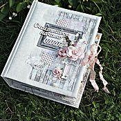 """Подарки ручной работы. Ярмарка Мастеров - ручная работа Подарки: Свадебный фотоальбом """"Счастливое начало"""". Handmade."""