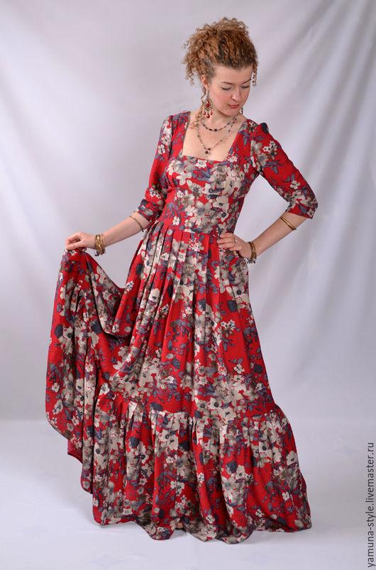 Платья ручной работы. Ярмарка Мастеров - ручная работа. Купить Платье летнее красное.. Handmade. Ярко-красный, нарядное платье