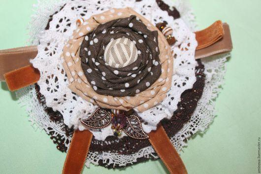 """Броши ручной работы. Ярмарка Мастеров - ручная работа. Купить брошь бохо """"Шоколад"""". Handmade. Коричневая брошь, коричневый"""