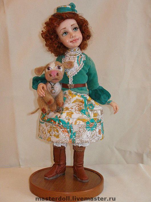 """Коллекционные куклы ручной работы. Ярмарка Мастеров - ручная работа. Купить Авторская Кукла """"Мишель"""" из полимерной глины. Handmade. Подарок"""