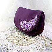 Сумки и аксессуары handmade. Livemaster - original item Purple cosmetic bag, gift for the New year. Handmade.