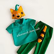 Одежда детская handmade. Livemaster - original item A kitty cat costume from the movie baby boy for Christmas. Handmade.