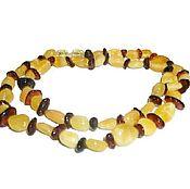 Украшения handmade. Livemaster - original item Amber beads white cognac color natural stone decoration. Handmade.