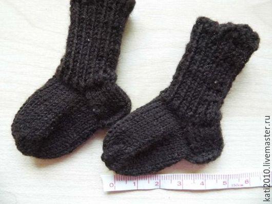 Одежда для кукол ручной работы. Ярмарка Мастеров - ручная работа. Купить носочки для кукол и мишек, вязаные на спицах. Handmade. Носочки