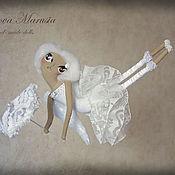 """Куклы и игрушки ручной работы. Ярмарка Мастеров - ручная работа """"Ангел с кружевным зонтиком"""" - авторская кофейная куколка. Handmade."""